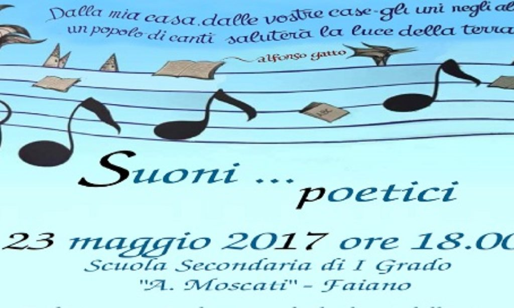"""Pontecagnano-Faiano:  """"Suoni Poetici"""" all'Istituto Comprensivo Moscati"""