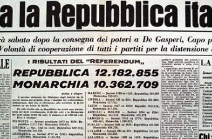 2 Giugno 1946: quando gli Italiani scelsero la Repubblica