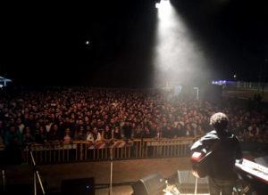 Un momento del concerto a Fisciano