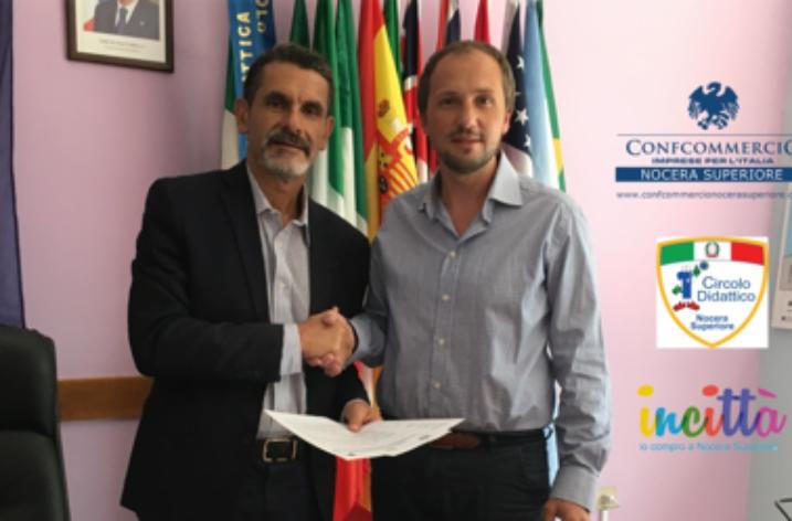 Nocera Superiore: Firmato protocollo tra I Circolo Didattico e Confcommercio