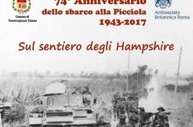 """A Pontecagnano-Faiano: """"Sul sentiero degli Hampshire"""" 74 anni dopo"""