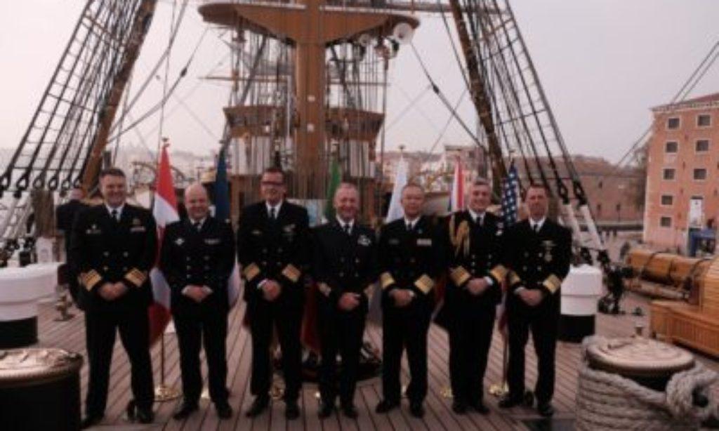 Sul Veliero Amerigo Vespucci i Capi delle Marine dei Paesi G7