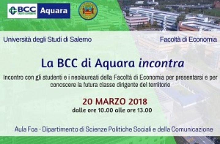 UNISA: la BCC di Aquara incontra studenti e neolaureati di Economia