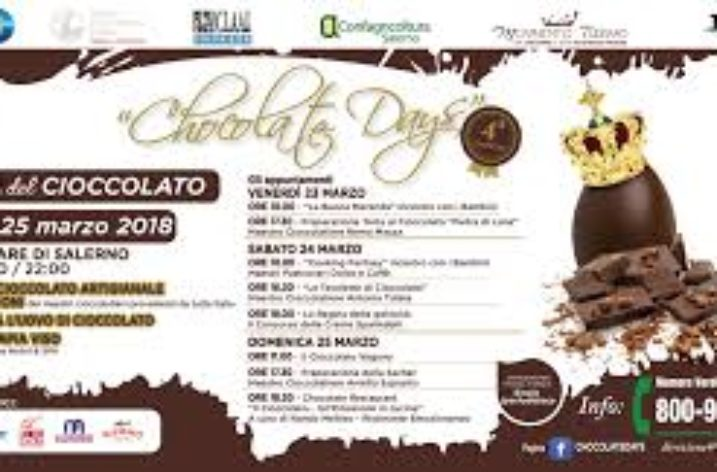 "Sul Lungomare di Salerno la quarta edizione di ""Chocolate Days"""