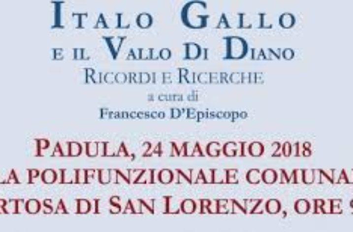 """A Padula la presentazione della raccolta """"Italo Gallo e il Vallo di Diano"""""""