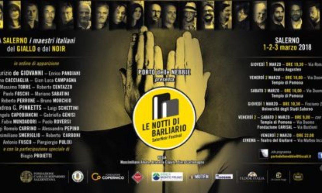 Torino: Al Salone del Libro la V edizione del SalerNoir Festival Le Notti di Barliario