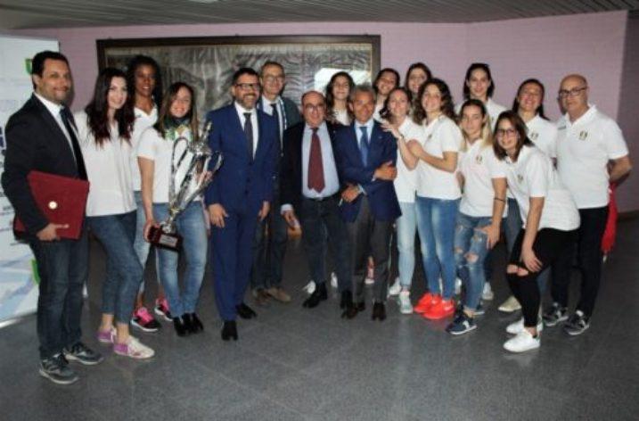 Unisa accoglie le campionesse d'Italia di Pallavolo Femminile