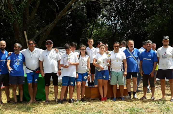 Circolo Canottieri Agropoli, weekend di successo sul fiume Liri