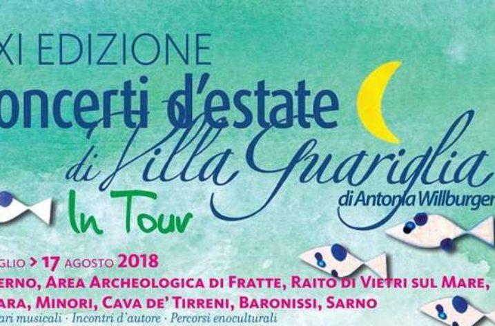 """""""Preludio Noir""""-domani Maurizio De Giovanni ai Concerti d'Estate di Villa Guariglia"""