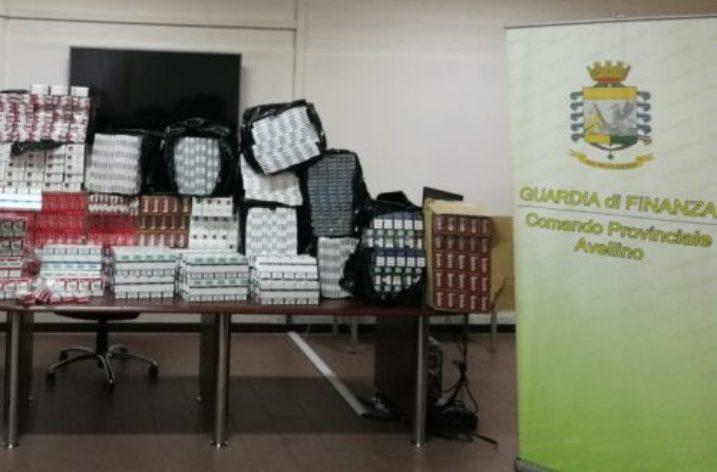 Sequestrati dalla GdF Irpina ventunomila pacchetti di sigarette di contrabbando