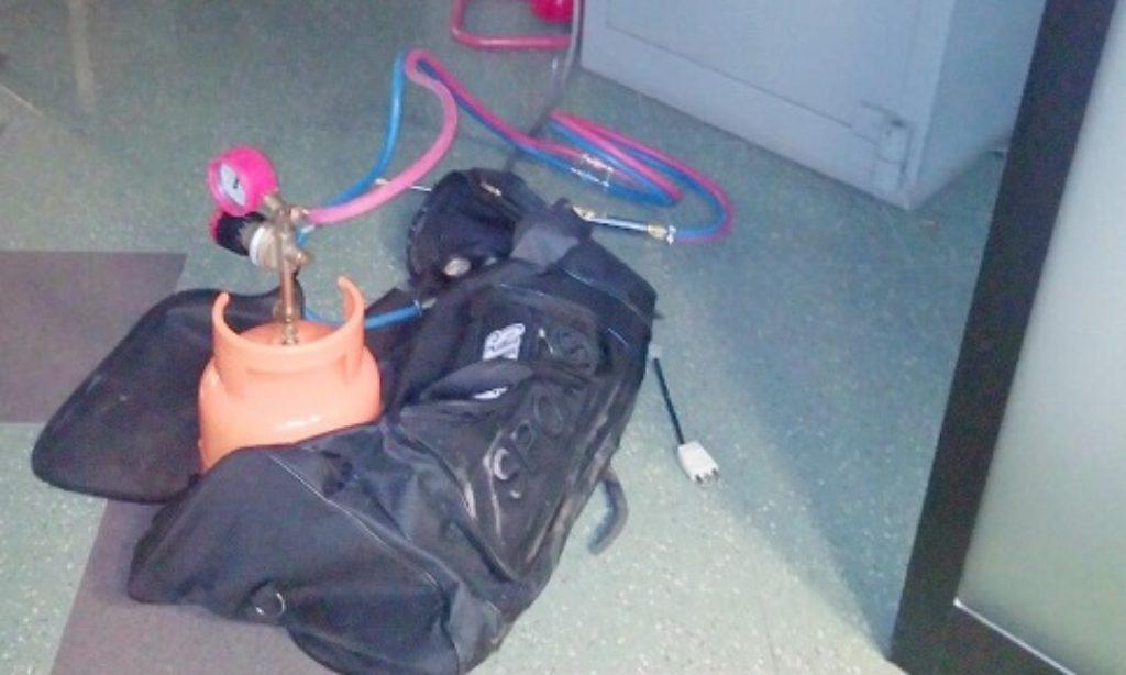 Campigliano: Acciuffati all'alba i ladri della Banca ancora con passamontagna e guanti
