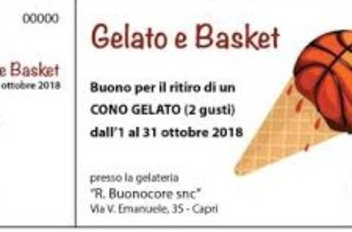 """Ad ottobre a Capri il gelato fa canestro con """"Un gelato per il basket"""""""