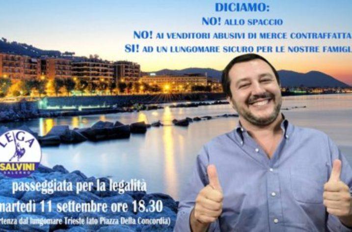 """LEGA  Salerno: """"Passeggiata per la sicurezza e la legalità"""""""