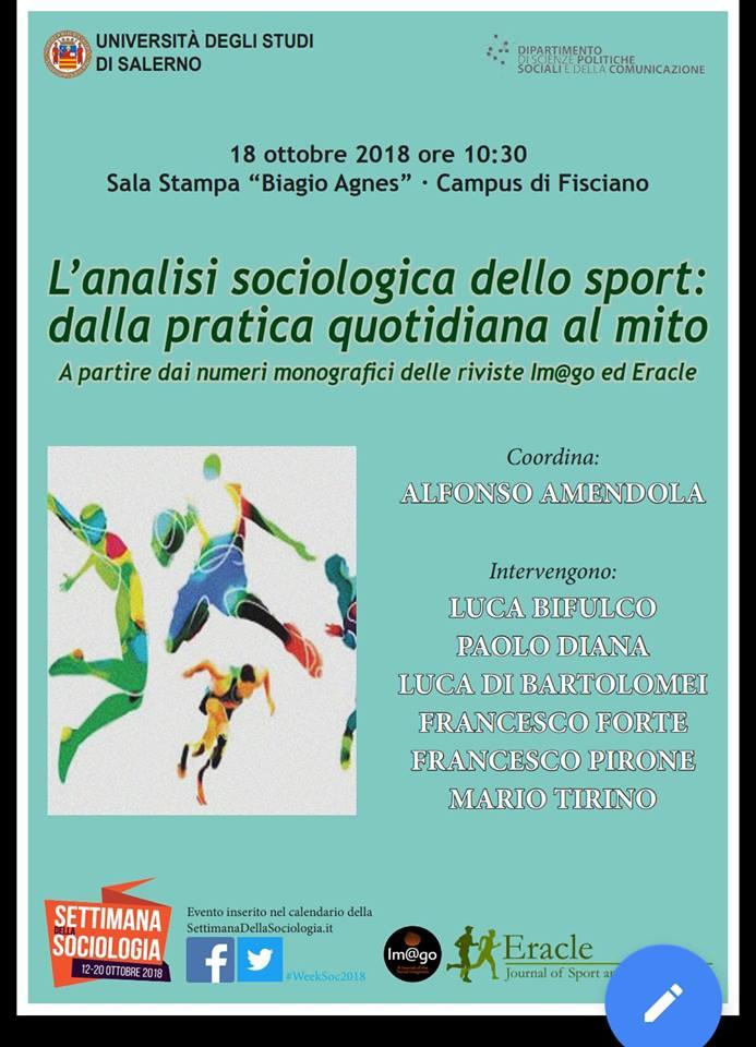 Unisa Calendario Esami.Unisa Settimana Della Sociologia Ieri Incontro Sullo Sport