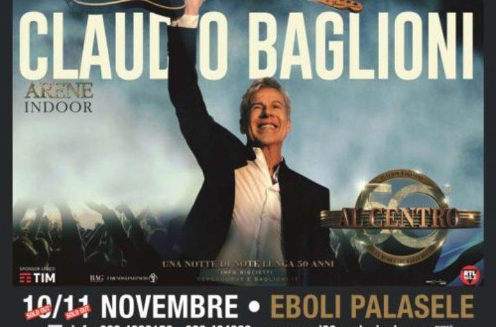 Al Palasele di Eboli doppio sold out per Claudio Baglioni