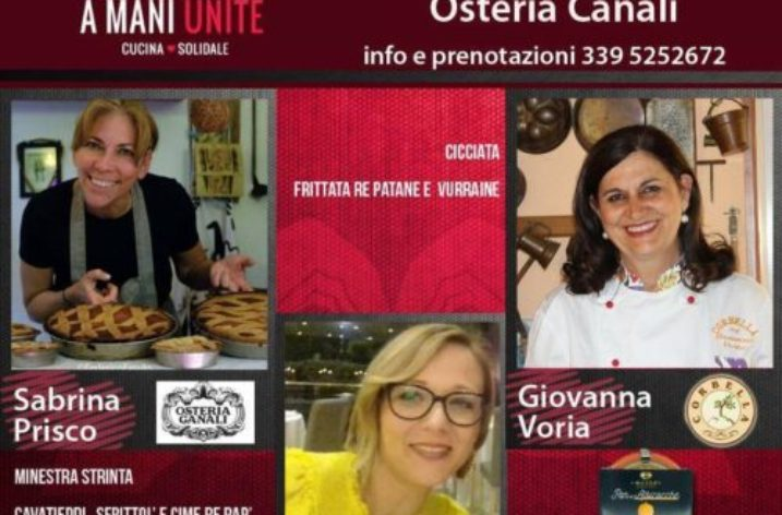"""""""A mani unite"""": All'Osteria Canali tre donne chef ed un obiettivo benefico"""