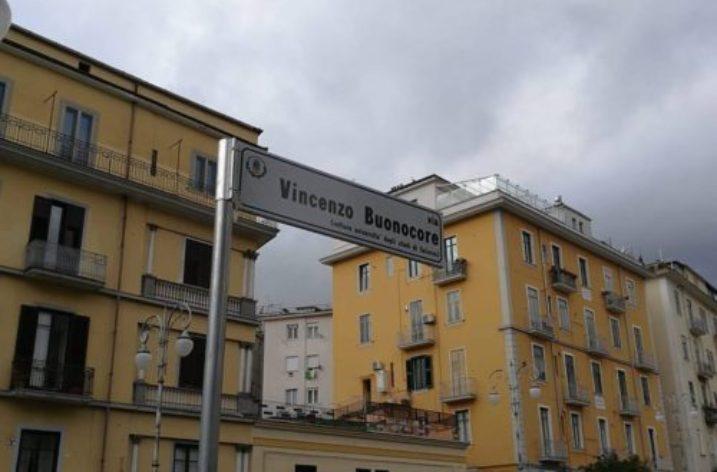 Intitolata stamane una strada in centro al Prof Vincenzo Buonocore