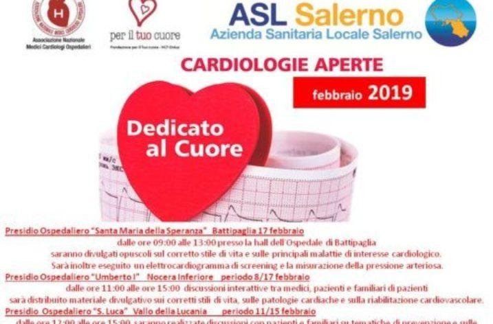 "L'Asl Salerno promuove ""Cardiologie Aperte"""