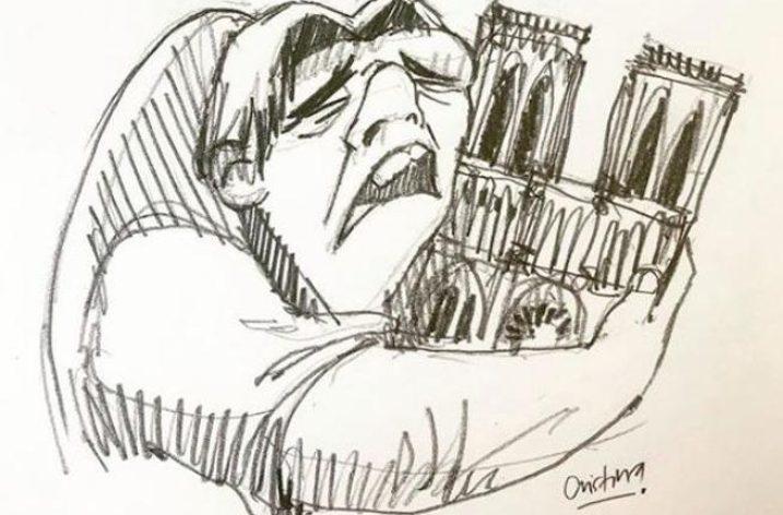 Notre Dame : in pochi tratti il dolore della Francia tutta