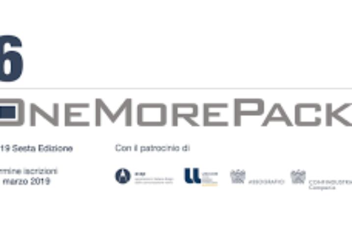 Il 16 aprile le valutazioni tecniche del premio OneMorePack 2019