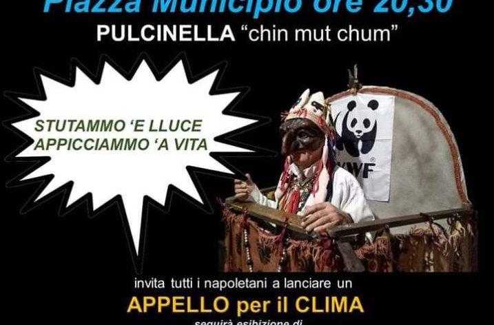 Earth Hour : Pulcinella risponde a Greta