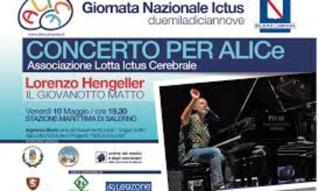 """Alla Stazione Marittima di Salerno""""Concerto di Lorenzo Hengeller per ALICe""""."""