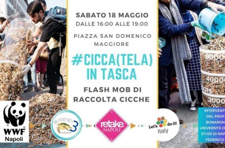 Sabato 18 a Napoli Flash Mob per la raccolta delle cicche
