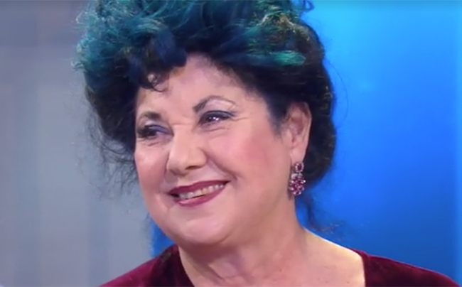 """Marisa Laurito alla trasmissione RAI """"La vita in diretta"""""""