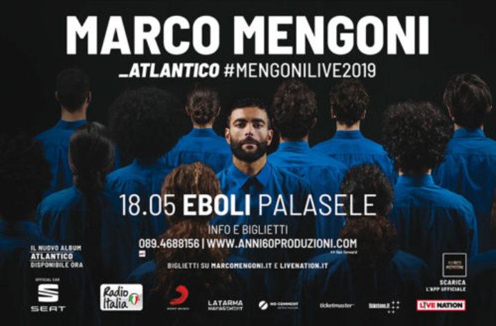 "Sabato  18 maggio al PALASELE Marco Mengoni con  ""Atlantico Tour"""