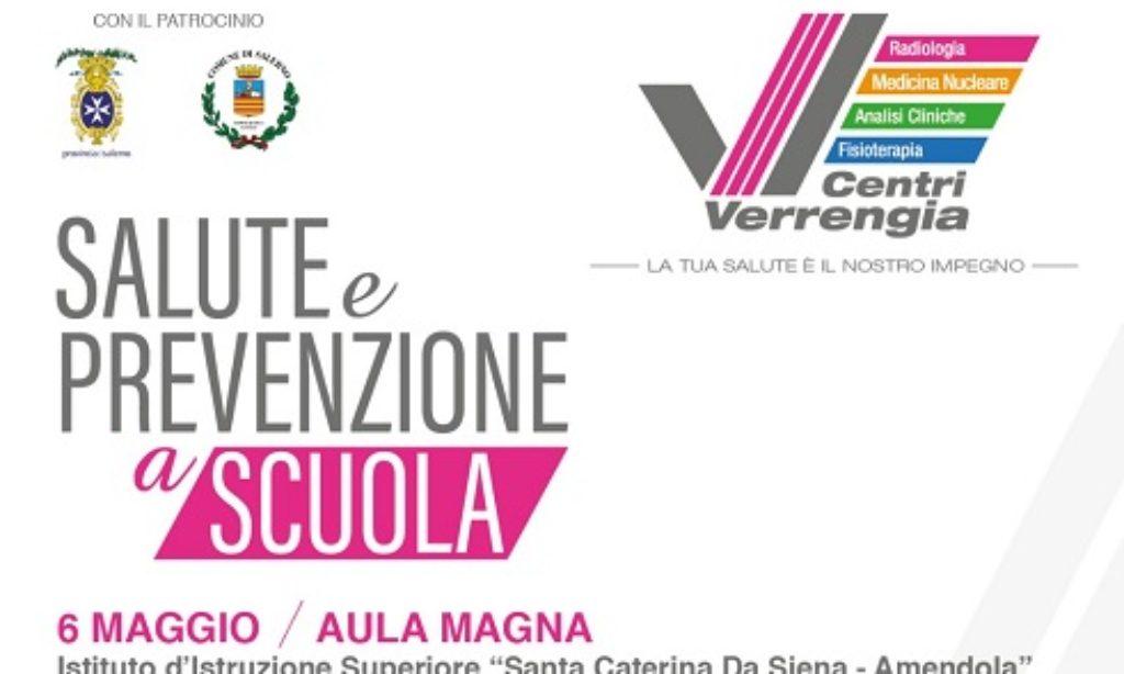 """""""Salute e Prevenzione a scuola"""", ultima tappa al Santa Caterina da Siena- Amendola"""
