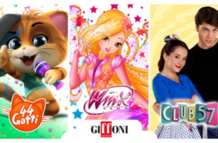 Giffoni Film Festival con 44Gatti, Winx Club, Club 57.