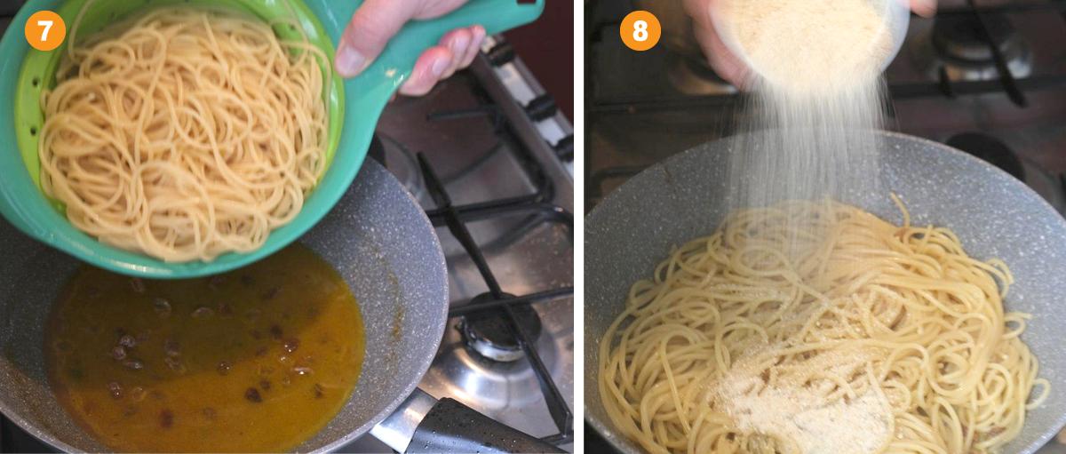 Ricetta Spaghetti con acciughe e succo di arance